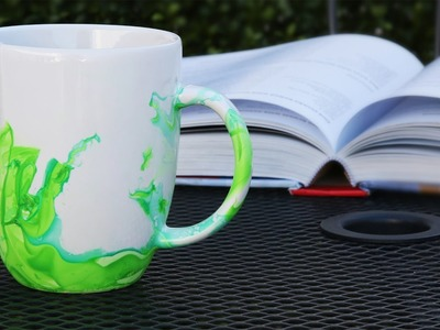 Easy DIY Marbled Mugs