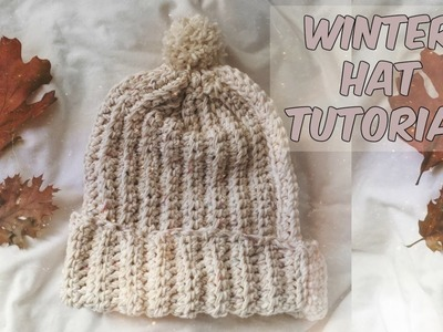 EASY RIBBED HAT TUTORIAL