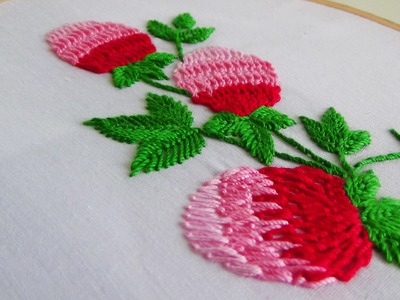 Hand Embroidery: Making flowers with twisted chain stitch