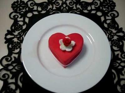 Happy Valentine's Day - 2 Year Old Mini Heart Cake!