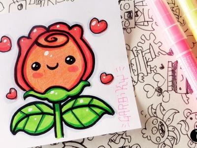 How To Draw Kawaii Rose by Garbi KW