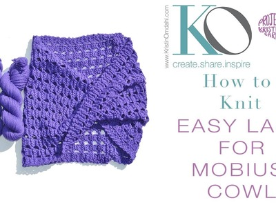 How to Knit Lace Mobius Cowl Worsted in Weight Merino Wool