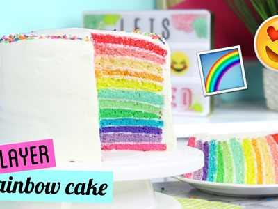 How to Make a TWELVE LAYER Rainbow Cake!
