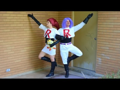 How To Make Team Rocket Costumes! Jessie and James Cosplay! No Sew Tutorial
