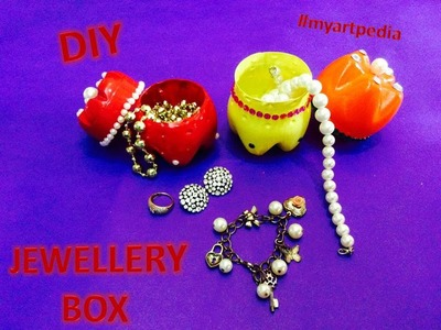 Jewellery box out of plastic bottles.