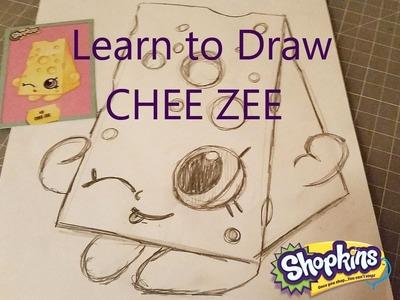 Learn to Draw Shopkins Chee Zee