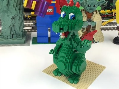 LEGO 3724 DRAGON SCULPTURE from 2001! Review
