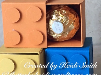 Lego style Ferrero Rocher treat box using Stampin Up products