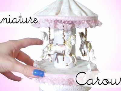 Miniature Carousel Tutorial. Dolls.Dollhouse