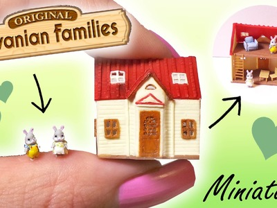 Miniature Sylvanian Families Inspired Tutorial. Tiny Dollhouse
