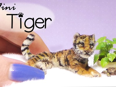 Miniature Tiger Tutorial. Dolls.Dollhouse. SugarCharmShop