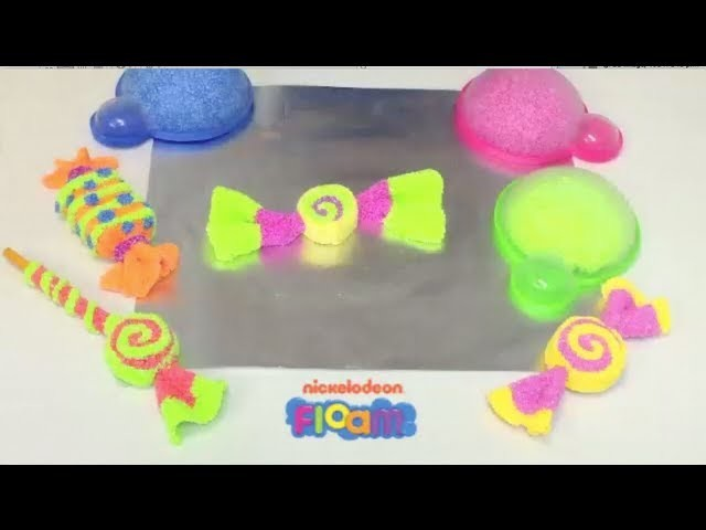 Nickelodeon Floam Project  #3 -- How to Use Floam to Make Candy Art