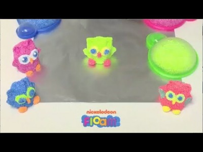 Nickelodeon Floam Project #6 -- How to Use Floam to Make an Owl