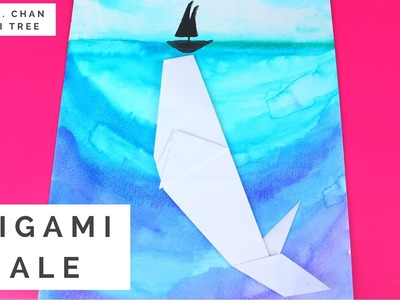 Origami Whale & Watercolor Painting! ft. The Art Sherpa (Cinnamon Cooney)