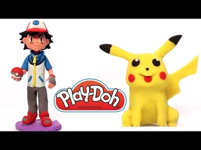 Pokemon Pikachu Play Doh How to do it playdo clay