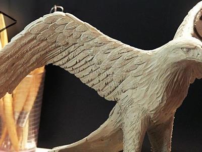 """Sculpting """"golden eagle"""" ►► Timelapse"""