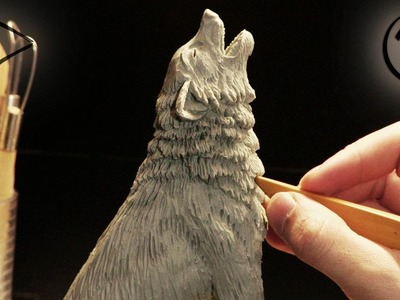 """Sculpting """"howling Wolf"""" ►► Timelapse"""