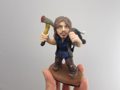 Speed Sculpting Daryl Dixon WALKING DEAD Polymer Clay Figure