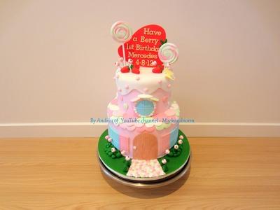 Strawberry Shortcake's House Cake
