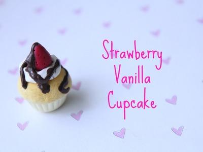 Strawberry Vanilla Cupcake Polymer Clay