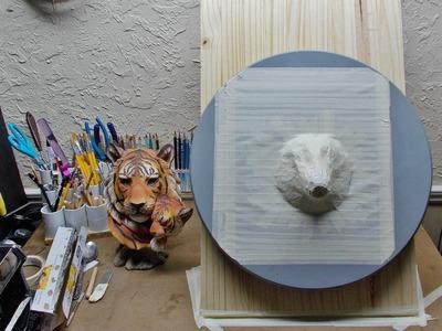 Tiger face, Part 1. Armature core.
