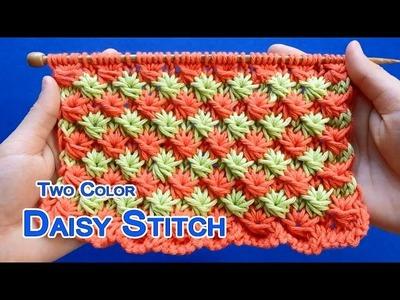 Two-color Daisy stitch