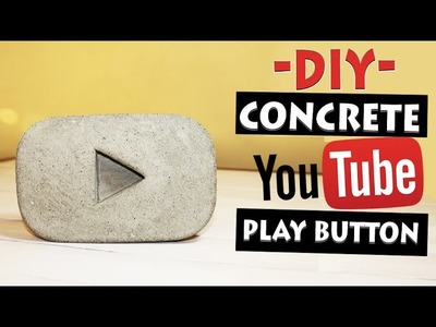 YouTube Play Button out of Concrete | 100 SUBSCRIBERS REWARD | Let's DIY