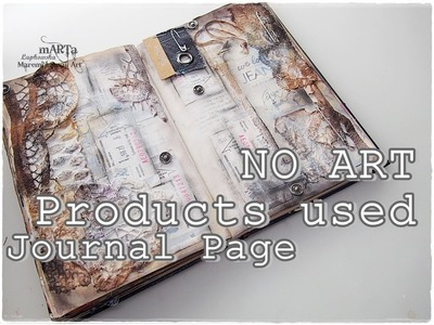 100% Recycled Junk Journal Page Tutorial on BUDGET #1