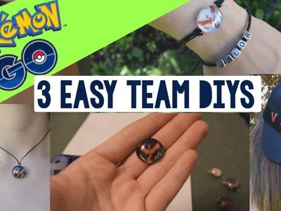3 EASY POKEMON GO TEAM DIYS | Bracelets, necklaces, pins & hat! | Pokémon GO DIY