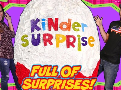 BIGGEST Kinder Surprise Egg on DCTC - Giant Play Doh Egg Full Of Toys Toy Toyz!