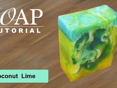 Coconut Lime, Melt and Pour Soap Tutorial