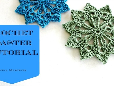Crochet Floral Coaster Tutorial