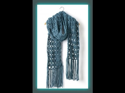"""""""Crossing Paths Crocheted Super Scarf"""""""