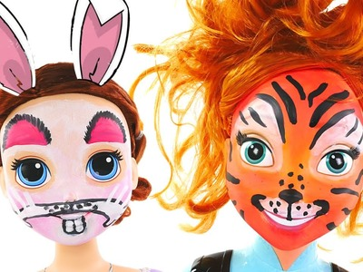 Disney Princess FACE PAINTING Frozen Anna + Sofia The First Doll Heads --- DCTC video