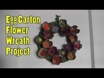 Egg Carton Flower Wreath Tutorial