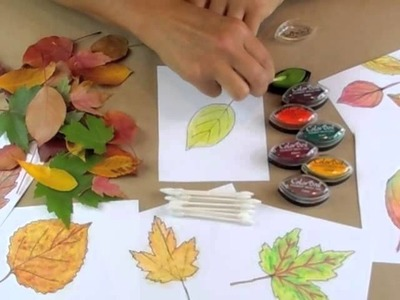 Fall Leaf Ink Painting with The Crafty Crow