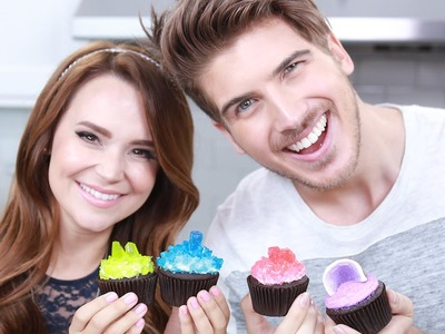 GEODE CANDY CUPCAKES ft Joey Graceffa! - NERDY NUMMIES