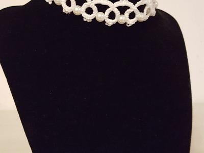 Girocollo al chiacchierino speciale sposa - Round neck for the special bride tatting