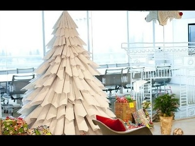 Guide To Make a Paper Christmas Tree Step by Step Video 2016