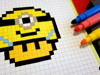Handmade Pixel Art - How To Draw a Minion Mushroom #pixelart