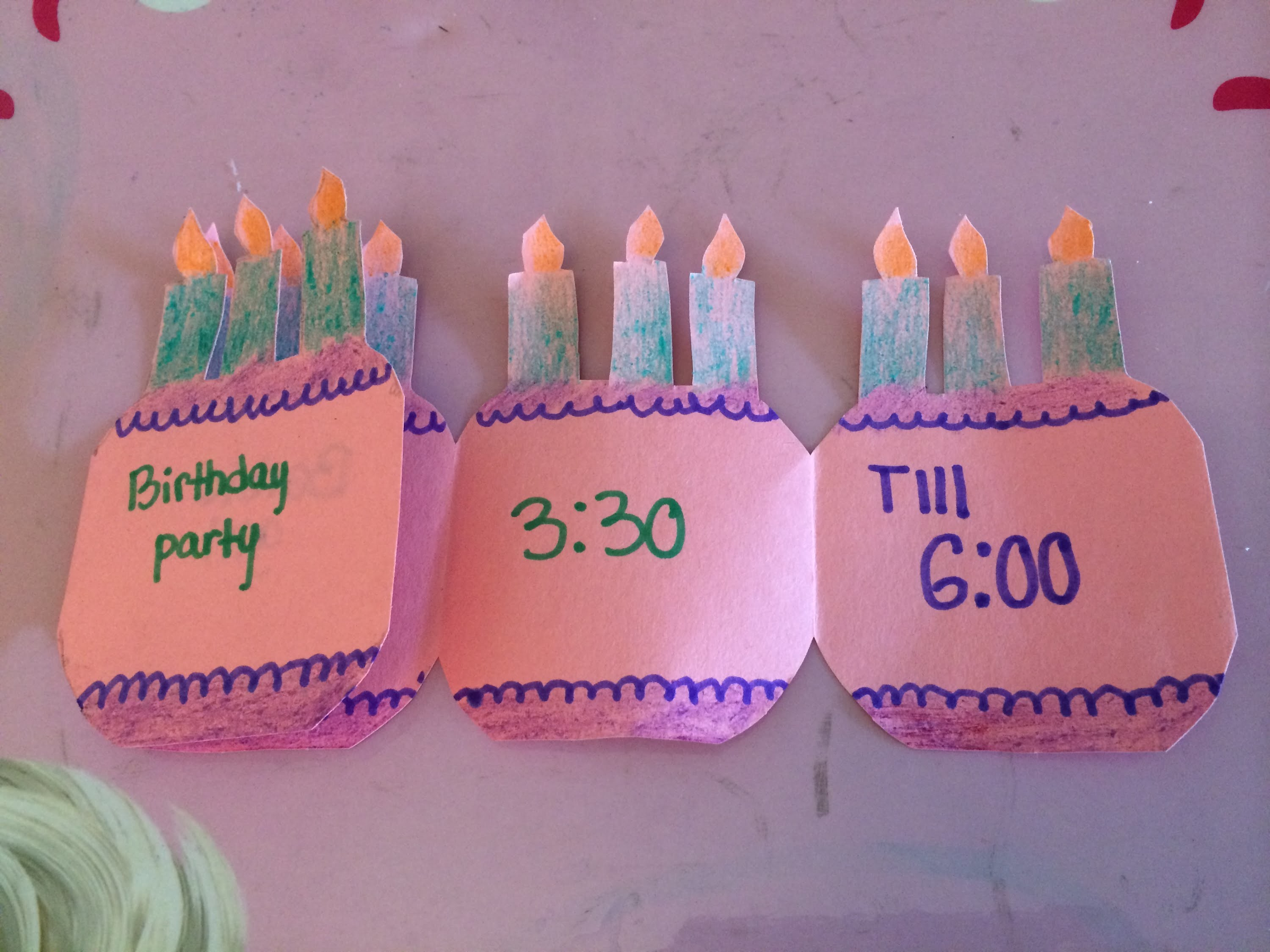 How to make a folding birthday party invitation card