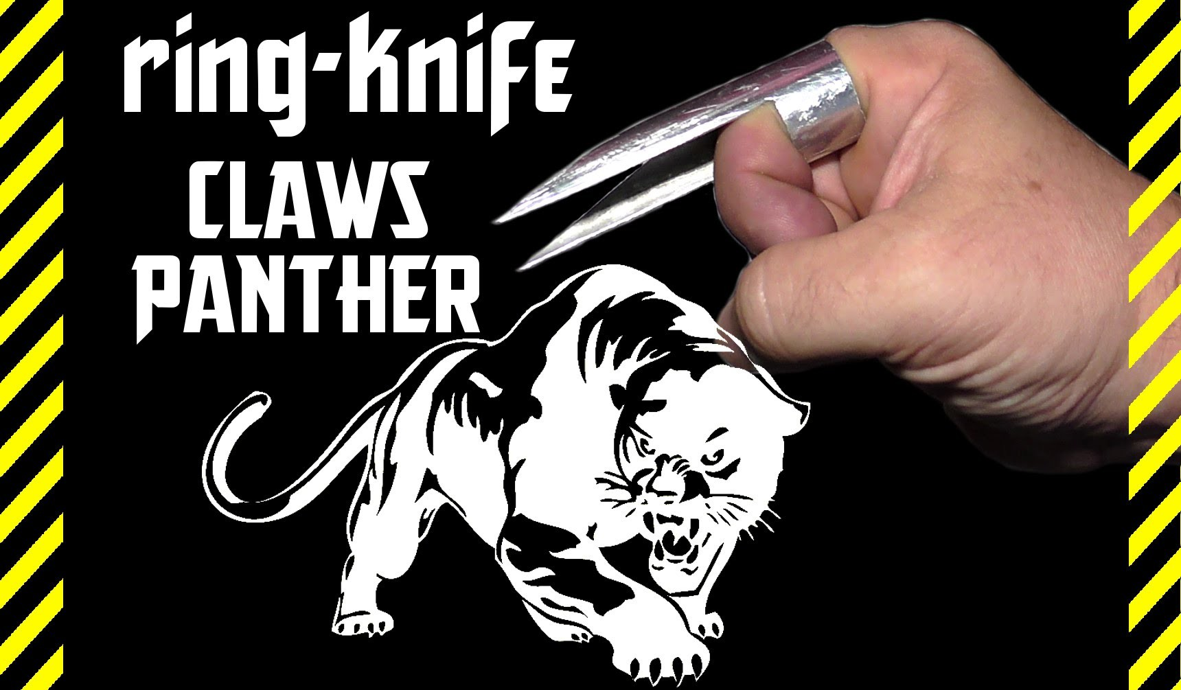 How to make a ring knife, dagger hidden CLAWS PANTHER  Deadly paw killer  Self defense and attack!
