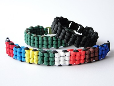 How to Make a Rubik's Cube Themed Paracord Survival Bracelet