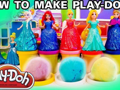 HOW TO MAKE PLAY DOH Home made playdoh tutorial Play-Doh Recipe Activity for Kids PTU Toys