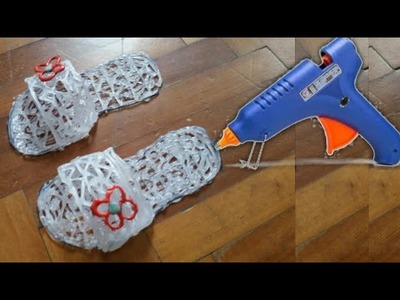 How to make shoes with hot glue gun - life hacks
