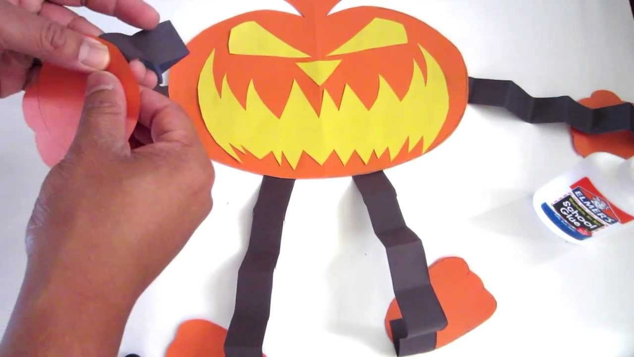 How to make the best Halloween Pumpkin out of Paper - Lana3LW