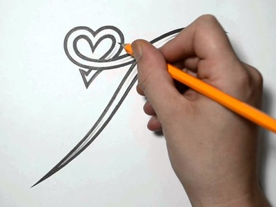 Letter T and Heart Combined - Tattoo Design Ideas for Initials