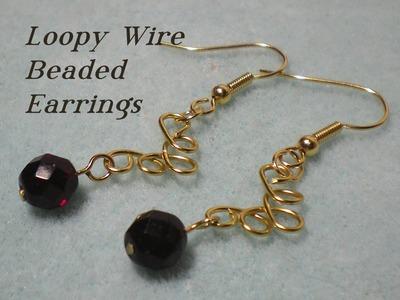 Loopy Wire Beaded Earrings Video Tutorial