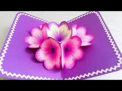 Make 3D Flower POP UP Card in Easy Process