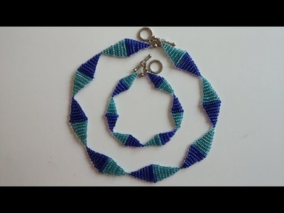 Necklace and bracelet . Easy beading tutorial for beginners